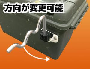 つりピタ/ラインワインダー BM-CO製品特徴1方向が変更可能