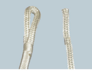 シーアンカー用の回収ロープの片側がアイ加工になりました。