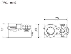 BM-RSB-100_web02_レールスライダーベース(縦型)寸法図