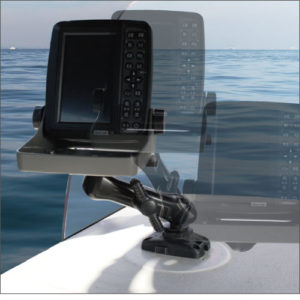 20C0066_魚探ボールマウント_魚探の角度・位置調節が自在に行えます。