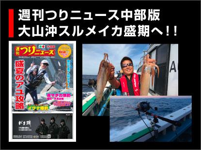つりニュース中部版(7月13日号)大山沖スルメイカ記事掲載