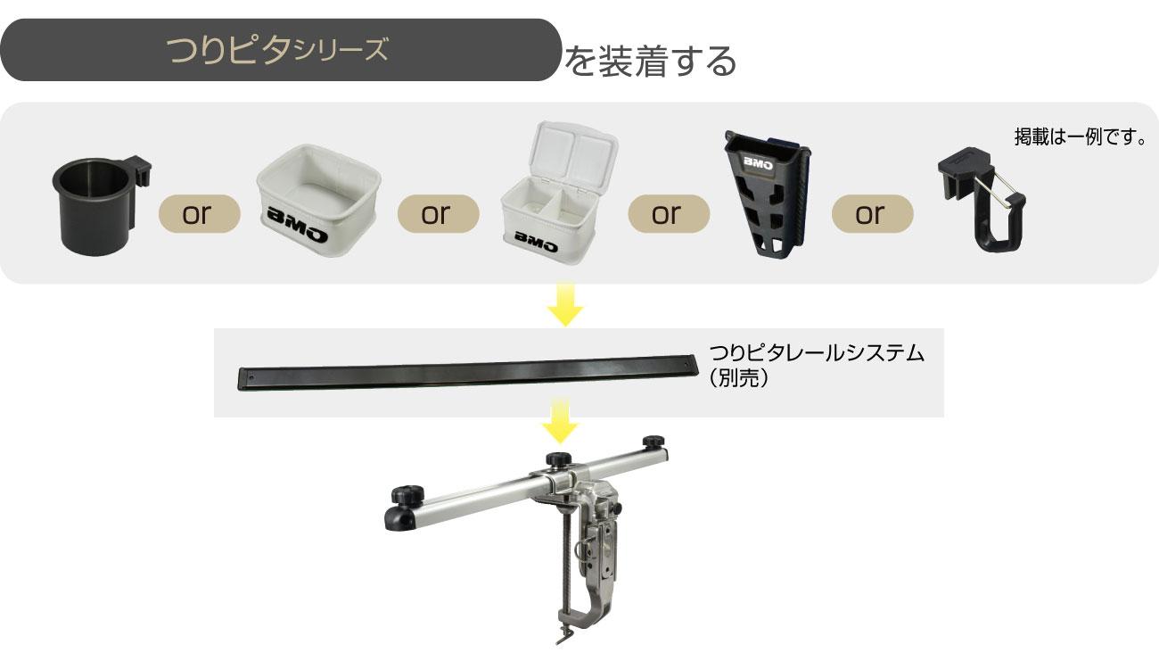 BM-DMR-A450_web016_つりピタアタッチメントを装着したい場合は、別売りのつりピタレールが必要です。