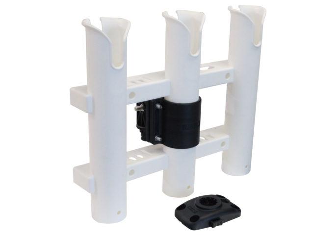 3連ロッドホルダー(一体型)クランプベースセット